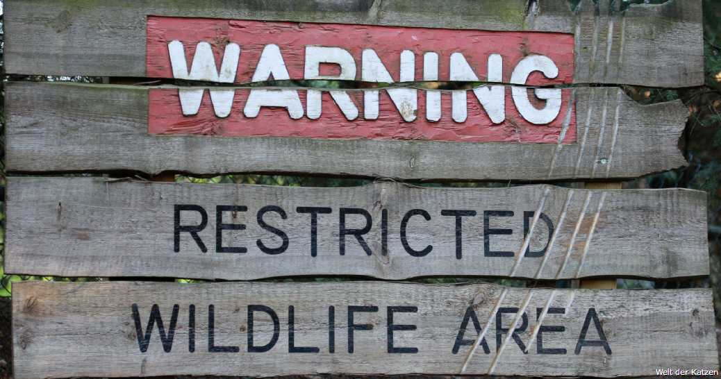 Warnschild: Wildlife Sperrgebiet